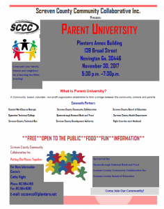 Parent University @ Planters Annex Building | Newington | Georgia | United States