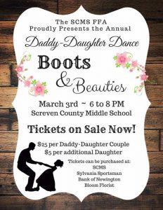 SCMS FFA - Daddy Daughter Dance @ Screven County Middle School | Sylvania | GA | United States