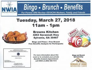NWIA Bingo-Brunch-Benefits @ Brown's Country Kitchen | Sylvania | GA | United States